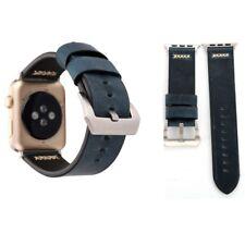 Echtleder Leder Armband Blau für Apple Watch Serie 1 / 2 / 3 42 mm Zubehör Neu