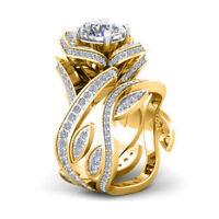 3.00Ct Diamond Round Cut Engagement Wedding Bridal Set Ring Real 10k Yellow Gold