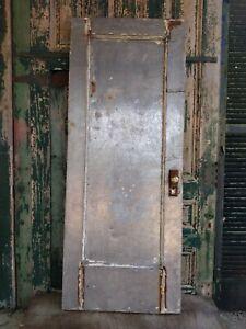 4 Antique Metal Clad Industrial Fire Doors Hinged