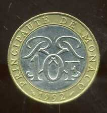MONACO 10 francs 1992  ( bis )