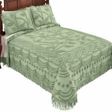 Soft and Luxurious Leaf Vine Chenille Bedspread