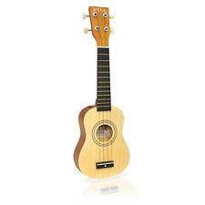 """Pyle PUKT15NT New 21"""" Soprano Ukulele Guitar Package W/ Bag Picks Natural Color"""