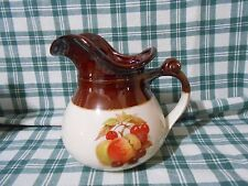 New listing ( Bb ) McCoy Pitcher 7515 Large Fall Colors Brown Fruit