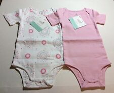 Aden+Anais Baby Girl/Pink Muslin One-Piece Bodysuits/Set Of Two/ 6-9 Months- Nwt