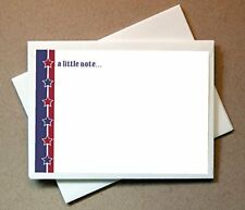 New Patriotic Note Cards 24 Non foldover Cards and Envelopes Free Shipping