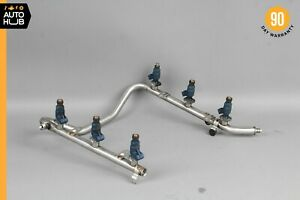 01-05 Mercedes R170 SLK320 ML320 E320 Fuel Injector Rail W/ Fuel Injectors OEM
