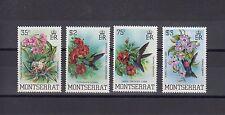 TIMBRE STAMP  4 MONTSERRAT Y&T#517-20 OISEAU FLEUR NEUF**/MNH-MINT 1983 ~A31