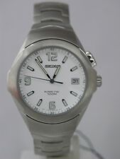 Seiko analog time piece screw case back kinetic stainless steel SKA075P1