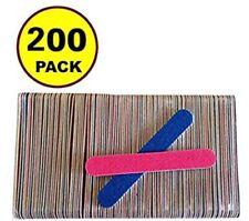 200 Pcs Disposable Professional Beauty Care Nail File 100/240 grit nail Buffer