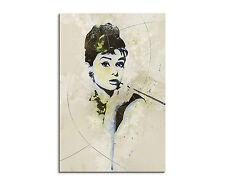 Deko Bilder Drucke Auf Leinwand Mit Audrey Hepburn Günstig Kaufen