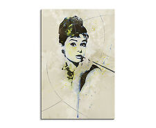 90x60cm PAUL SINUS Splash Art Audrey Hepburn- Schauspielerin Geschenkidee