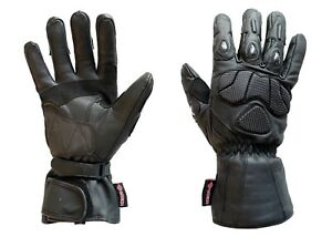 MTECH Motorbike Full Leather Gloves Motorcycle Water proof Warm Winter Gloves