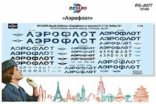 Revaro Decal «Aeroflot» lettering, 1/144 scale. Set №1.