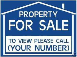 TO LET / FOR SALE sign boards X2 PERSONALISED RED/BLUE