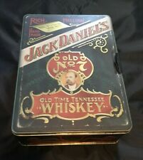 RARE JACK DANIELS TIN Special Poker Chips, one Sealed Deck one Opened/Garter