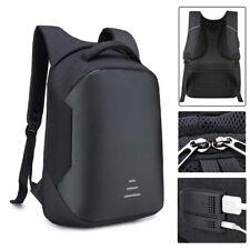 Anti-theft Men Women Laptop Backpack USB Charger Port Business School Bag Canvas
