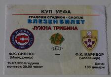 Ticket for collectors EC Sileks Kratovo NK Maribor 2004 Macedonia Slovenia