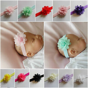 Girls Baby Kids Children Headband Hair Accessories Small Chiffon Flower