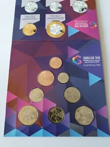 2019 Gibraltar Island Games XVIII Currency Set - Full Set 8 Coins £2 - 1p