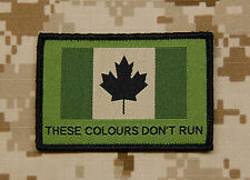 Canadian These Colours Don't Run Woven Patch JTF2 CADPAT Temperate Canada Strong