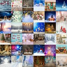 Christmas Photography Backdrop Photo Xmas Snow Tree Scene Background Prop