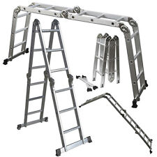 Scaffold Ladder Heavy Duty Giant Aluminum 11.5 Feet 330LB Multi Purpose Extend