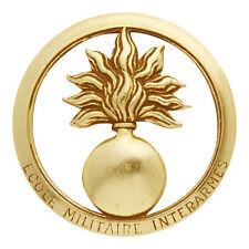 insigne de béret ECOLE MILITAIRE INTERARMÉES EMIA - Fabrication COINDEROUX PARIS