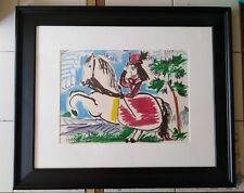 Lady on a Horse X, Picasso's 1961 Ltd. Ed. Museum Glass/Acid Free Framed Litho