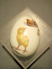 ROYAL BAYREUTH GERMANY PORCELAIN EGG EASTER 1974 CHICKEN WITH CHICKS