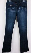 ROCKSTAR SUSHI Women's Jeans Size 27 Distressed Bootcut Dark Wash Zipper Pockets