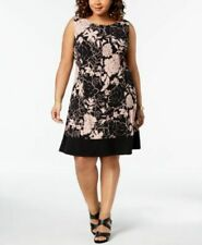 Connected Apparel Dusty Blush A-Line Dress Size 24W $79.00