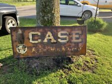 Vintage CASE Farm Machinery Sign 1920-30's Eagle GAS OIL SODA COLA Patina 72x30