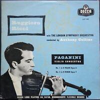 Paganini - Violin Concertos No. 1 & 2, RICCI, COLLINS, LSO, Decca LXT 5075 MONO