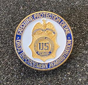 DEA DRUG ENFORCEMENT ADMIN EXECUTIVE PROTECTION DETAIL SPECIAL AGENT LAPEL PIN