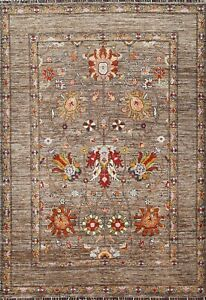 Vegetable Dye Ziegler Floral Oriental Area Rug Hand-knotted Foyer Carpet 5'x7'