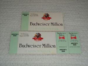 1983 Budweiser Million Arlington Park (2) Original Horse Racing Ticket Stubs