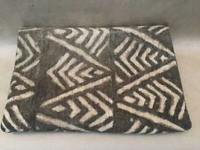 Vintage African Black & (Off)White Mud Cloth Cotton Textile with Hole!