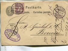 Switzerland 5c on 5c postal card to Germany 1887