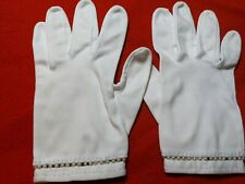 Ladies' Vintage Wear-Right White Cotton Gloves, Size 6-1/2 Made West Germany