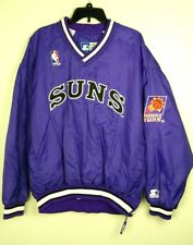 Vtg Starter Phoenix Suns Men's Purple Pullover Windbreaker Jacket size XL