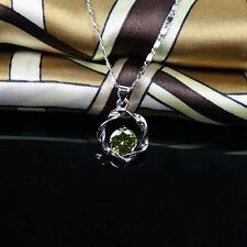 White Gold Pendant&Necklace Exquisite Chain Sweet Lady Necklace Silver Choker