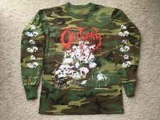 1991 OBITUARY UK/EUROPEAN TOUR CAMO SHIRT death metal blue grape deicide slayer