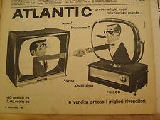 PUBBLICITA' ADVERTISING 1958 TELEVISORE ATLANTIC (IC43)