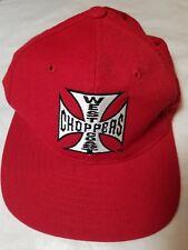 West Coast Choppers Jesse James Motorcycle Biker Snapback Trucker Red Hat Cap