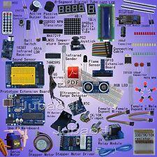 UNO R3 Starter Kit for Arduino 1602LCD Servo Ultrasonic Motor LED Relay RTC-R2