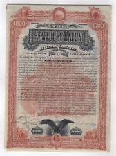 1888 Kentucky Union Railway Company  Bond