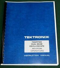 Tektronix 7844 Operator Manual Comb Bound Amp Plastic Protective Covers