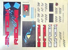 REDLINE 1986 Squares Decal Set Blue sticker COMPLETE