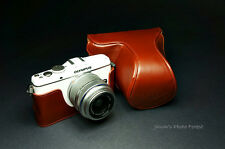 Handmade Full Real Leather Camera Case for Olympus EP3 EP-3(For 14-42mm Lens)