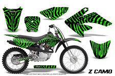 HONDA CRF 70 GRAPHICS KIT CREATORX DECALS STICKERS ZCAMO GREEN